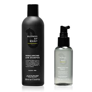 Linha Equilíbrio - tratamento dermoequilibrador do couro cabeludo com ação antibacteriana e seborreguladora.