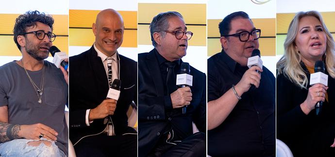 Maurício Pina, Mônica Casado, Junior Mendes, Paulo Cordeiro, Eron Araújo eMarcos Coraza