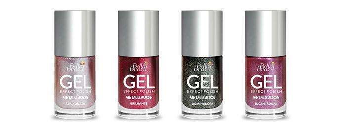 Bella Brazil apresenta quatro novas cores da linha metalizados efeito gel