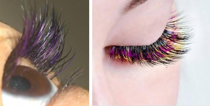 Cílios coloridos são tendência para o Carnaval 2020