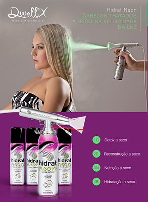 Hidrat Neon e Airflex LED estarão na Hair Brasil 2020