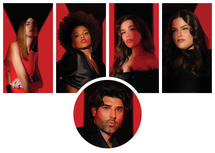 As influenciadoras Thai de Mello, Yasmin Estevam e Mariana Sampaio, a atriz Mayara Russi, e o beauty artist Rodrigo Costa, são os escolhidos para esta campanha.